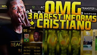 OMG 3 RAREST INFORMS + CRISTIANO IN A PACK - INSANE FIFA 15 PACK OPENING !!