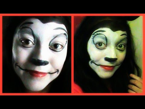 Minnie Mouse Face Paint Tutorial - YouTube
