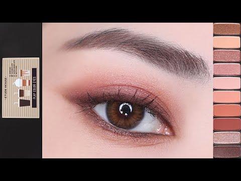 [ENG]깊이있는 레드브라운 메이크업(feat.에뛰드하우스 카페인홀릭) |  Deep Red Brown Eye Makeup