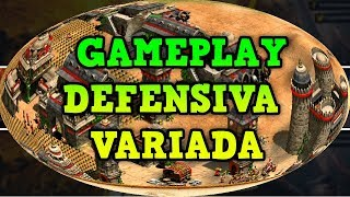 Age of Empires 2 HD Gameplay Defensiva Variada AoE2HD Gameplay PT BR