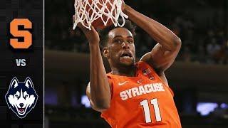 Syracuse vs. Connecticut Basketball Highlights (2017-18)