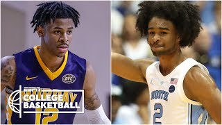 Saturday's Top 10 Plays include Coby White layup, Ja Morant dunk | College Basketball Highlights