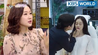 """HaeSun, """"It was hard to slap Kim TaeHee because she was so pretty T.T"""" [Happy Together/2018.01.25]"""