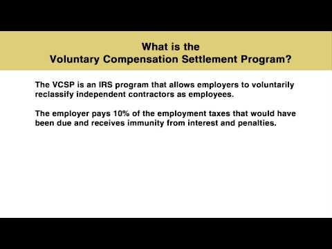 Voluntary Compensation Settlement Program