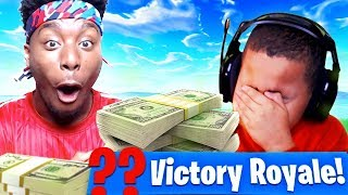 P2istheName *TROLLS* MY LITTLE BROTHER AND MADE HIM LOSE $5000! FORTNITE BATTLE ROYALE FUNNY MOMENTS