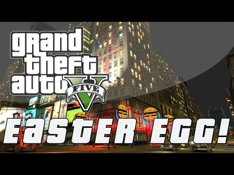 "Grand Theft Auto 5   GTA IV ""Greetings From Liberty City""  Easter Egg (GTA V) - Smashpipe Games"