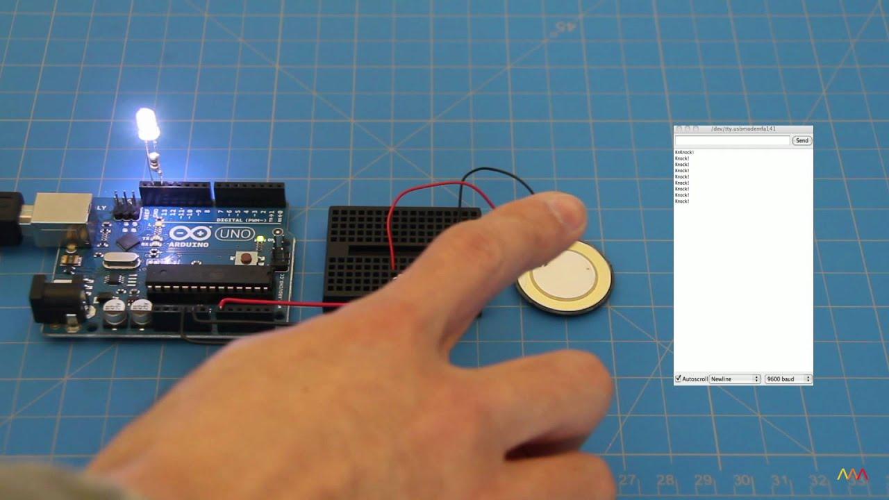Arduino Examples Knock Piezo Sesnor Youtube