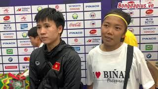 Tuyết Dung, Huỳnh Như nói gì sau khi nữ Việt Nam vào bán kết SEA Games 2019