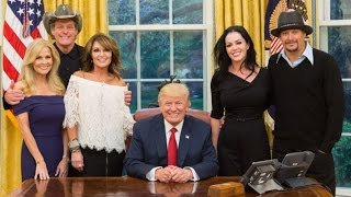 Sarah Palin, Kid Rock And Ted Nugent Visit Trump's White House