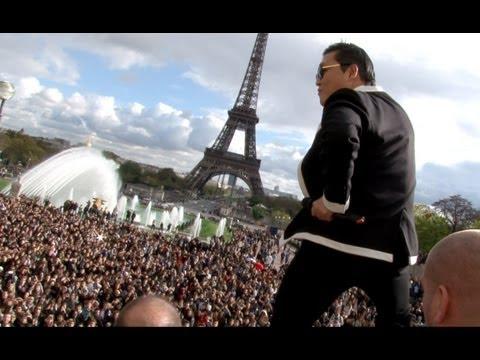 PSY GANGNAM STYLE Paris live flashmob at Trocadero with Cauet (NRJ) 파리 강남스타일 5.11.2012