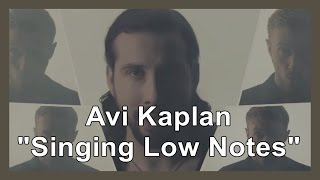 "Avi Kaplan ""Singing Low Notes"""