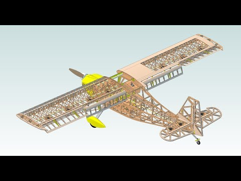 3D CAD Design of 44% Bellanca Super Decathlon R/C Scale Model
