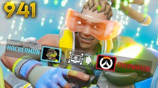 A HACKING... LUCIO!? *NEVER SEEN*  | Overwatch Daily Moments Ep.941 (Funny and Random Moments)
