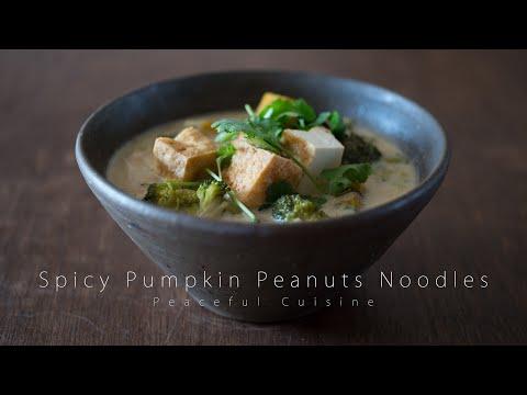 Spicy Pumpkin Peanuts Noodles (vegan) ☆ タイ風ヌードルの作り方