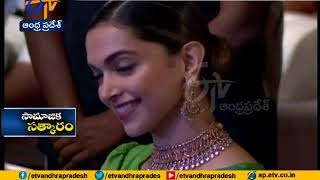 Deepika Padukone tries Telugu @ Social Media Awards 2017 i..