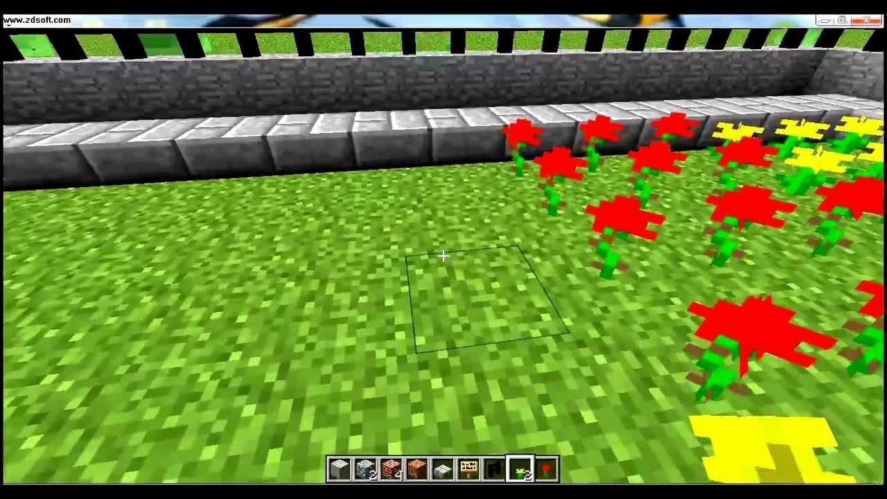 Minecraft como hacer un jardin completo youtube - Hacer un jardin ...