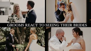 Grooms React To Seeing Their Brides on the Wedding Day, First Look Wedding Day Compilation