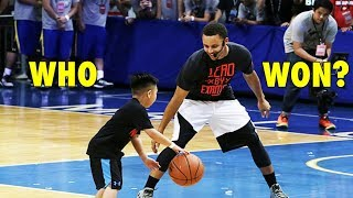 Stephen Curry vs. 7-Year Old Boy (2015 Under Armour Tour)