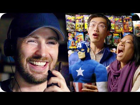Captain America Pranks Comic Fans with Surprise Escape Room // Omaze