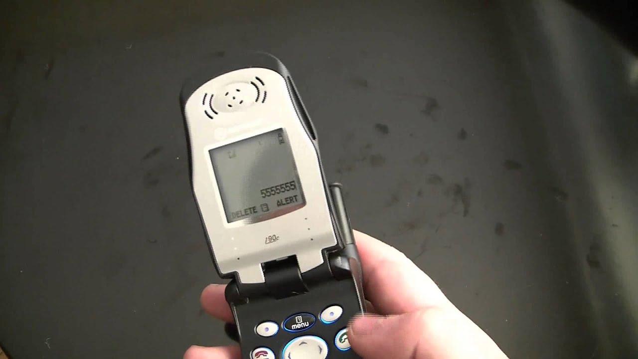 Vintage Motorola Roxy I90C Nextel Cellular Phone Review ... Nextel I90 Phone