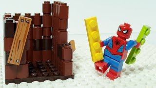 Lego Spiderman Brick Building Treehouse Video for Kids