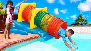 Emma Play with Fun Swimming Pool Tube Water Slide for Kids Video