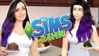 24 HOUR Living As My Sim Challenge