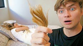 MY BOYFRIEND CUT MY HAIR OFF WHILE I WAS SLEEPING!!
