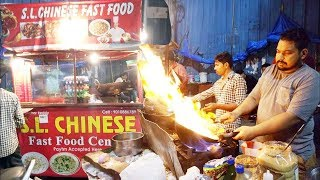 People Are Very Crazy Food | Delicious SL Chinese Fast Food Center in Ameerpet | Street Food 2018