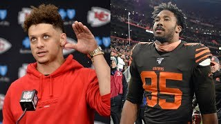 NFL Players REACT to Myles Garrett's UGLY Helmet Swing on Mason Rudolph