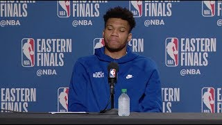 Giannis Antetokounmpo Abruptly Walks Out Of Game 6 Press Conference After Loss