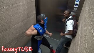 Mortal Kombat trong thang máy