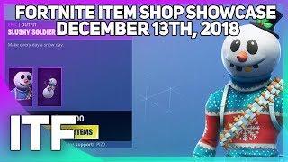 Fortnite Item Shop *NEW* SLUSHY SOLDIER SKIN! [December 13th, 2018] (Fortnite Battle Royale)