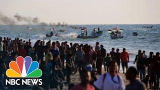 Palestinians Protest Gaza Blockade On Land And Sea   NBC News