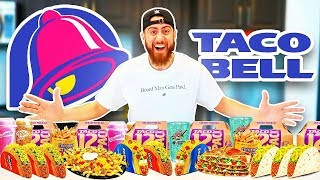 I Only Ate TACO BELL For 24 Hours! *IMPOSSIBLE FOOD CHALLENGE*