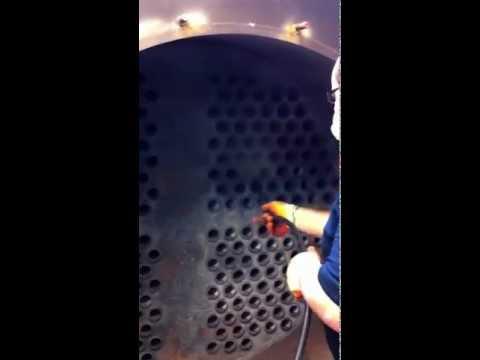 Tube Cleaning a Crematorium Boiler