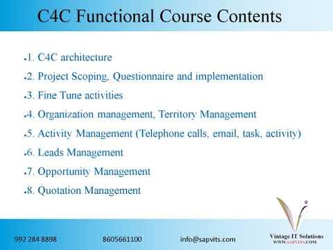 SAPVITS |  SAP C4C Technical Online Training