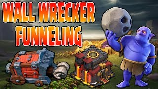 TH 10 UPDATE | WALL WRECKER Funneling 101 | War Strategy Clash of Clans