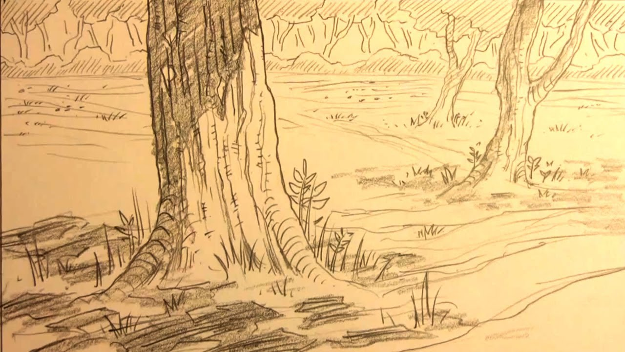 How to draw forest backgrounds for manga youtube - Portrait anime wallpaper ...