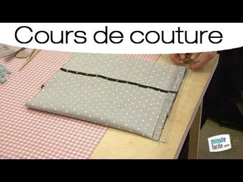 coudre une housse de coussin en forme portefeuille youtube. Black Bedroom Furniture Sets. Home Design Ideas
