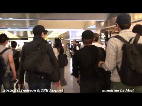 20120511 Incheon&TPE Airport Eric and Hyesung center