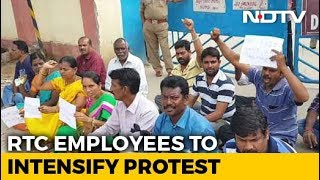Second Telangana Transport Staff Commits Suicide As Strike..