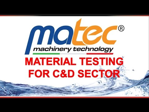 Test on C&D material by Matec