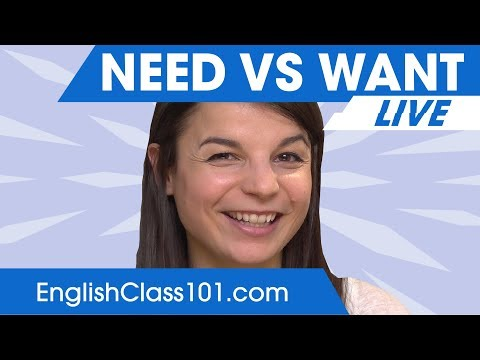 NEED vs WANT | Using English Verbs Correctly 🔴