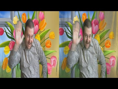 March 8 in 3D ! Spring in 3D . 3D VIDEO