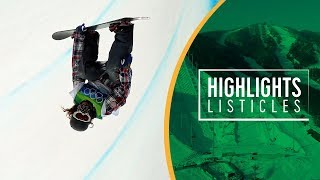Top 5 Most Incredible Moments in Olympic Men's Snowboarding | Highlights Listicles