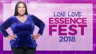 BRAND NEW: Loni Love at Essence Fest 2018 with Mary J. Blige!