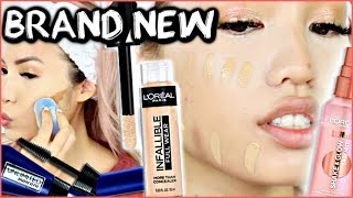 NEW L'OREAL RELEASES   INFALLIBLE FULL WEAR CONCEALER + LUMI GLOW MIST   WEAR TEST REVIEW