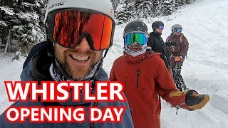 Whistler Opening Day Snowboarding 2019
