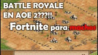 FORTNITE PARA HOMBRES DE VERDAD? BATTLE ROYALE EN AGE OF EMPIRES 2!
